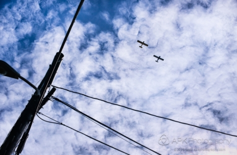 Sky, planes in formation