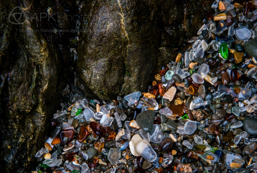 Glass Beach detail, Mendocino, California