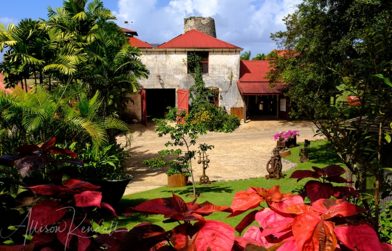 St. Nicholas Abbey sugar plantation and rum distillery, in Saint Peter parish, Barbados