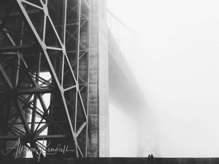 Bridge and fog, Fort Point, San Francisco