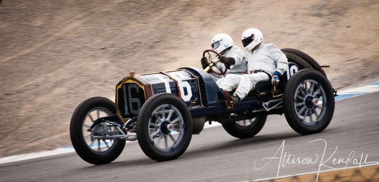 1912 Packard 30, descending through the corkscrew driven by Brian Blain at the Rolex Monterey Motorsports Reunion during Monterey Car Week