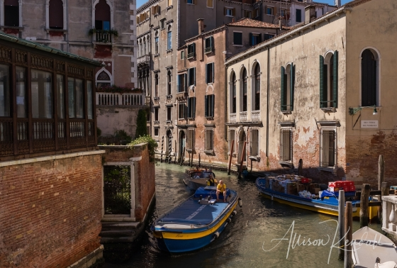 Scenes and details from the streets and canals of Venice, Italy